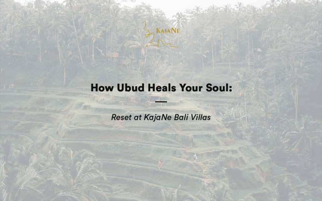 Heal Your Soul at Our Private Villa in Ubud - KajaNe Bali Villas - The Best Bali Family Villas
