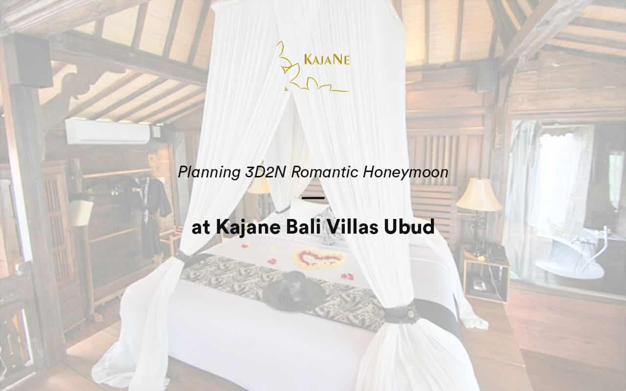planning 3D2N honeymoon with romantic dinner ubud with KajaNe Bali Villas - The best service for private villa in Ubud and Bali family villas